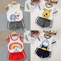 Clothing Sets Summer Kids Baby Short Sleeve Set Pure Cotton 2021 Children's Boys Girls Shorts T-shirt Two