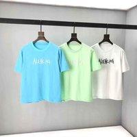 2021SS Primavera e verão Nova alta qualidade de algodão de impressão de manga curta em torno do painel do pescoço T-shirt T-shirt: M-L-XL-XXL-XXXL Cor: Preto Branco 83D1Z