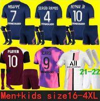 Maillots football kits 2021 2022 PSG Jersey soccer Jersey 20 21 MBAPPE ICARDI NEYMAR shirt JR VERRATTI homens crianças conjuntos maillot de foot