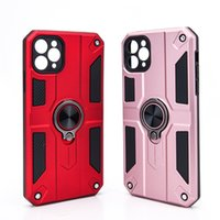 Shockproof 2 in 1 Cell Phone Cases for iPhone 12 Pro Max Samsung S20 S21 FE A51 LG Stylo 5 Moto G Stylus Full Body Protective Back Cover with Magnetic Ring Holder Kickstand