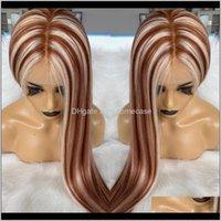 Peruk vurgulamak kırmızı kahverengi bakire tam dantel peruk 180percent yoğunluk Avrupa saç stoktan yapılmış 613 beyaz sarışın cz5nm 8gp5y
