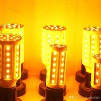 LED Corn Light Yellow 2200K DC12V E27 LED Bulb Light SMD 5730 Energy Saving Lamps for Hotel
