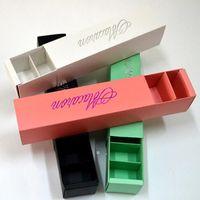 Makaronverpackung Hochzeit Süßigkeiten Gefälligkeiten Geschenk Laserpapierkästen 6 Gitter Schokoladenbox / Cookie Box BWE10143
