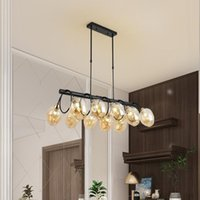Pendant Lamps Tree Branch Chandelier Magic Bean Strip 8 Heads Black For Living Room Bedroom Home Decoration Stained Glass Lampshade