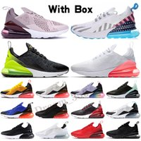Nike Air Max 270 2021 Almofada de alta qualidade Mens Run Sapatos CNY Rain Bow Treinador Estrela Estrela Estrela BHM Ferro Criado Mulheres Esportes Sneakers