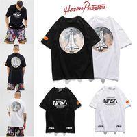 Moda Marka Heron NASA Preston Rus Baskılı Mektup Kısa Kollu T-shirt Erkekler ve Kadınlar için