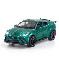 Rambo Urus Bison Alloy Model Metal Diecast نموذج الرياضة سيارة الصوت والضوء نموذج اللعب سيارات لعب للأولاد