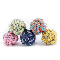Dog Toys & Chews 1pcs Pet Toy Chew Cotton Rope Knot Funny Ball For Cat Puppy Baby Dogs Interactive Training Supplies