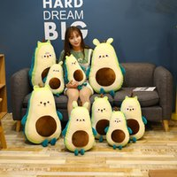 Cute plush toy avocado turns into cat Changke rabbit cub sleeping pillow in children's bed