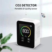 ثاني أكسيد الكربون CO2 كاشف الغاز تركيز الغاز Color SN Ligent جودة الهواء محلل اختبار مع درجة حرارة الرطوبة عرض الشاشة