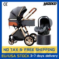 Designer  stroller 3 in 1 Baby Travel High Landscape Portable Light-Weight Carriage Folding Colorful Luxurious born Carrinho De Bebe