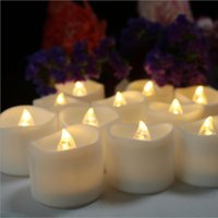 SXI Timer Flickering Candle LED Tea Lights Battery Operated Flameless Wave Shaped For Wedding Party Decor