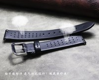 Watch Bands 14 16 18mm Classic Ultra-thin Black Strap Band Genuine Leather Belt Men's Fashion Cowhide Quick Release Watchbands