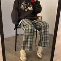 Plaid Y2k Harajuku Sweatpants Womens Capris Wide Leg High Waist Checkered Oversize Plus Size Clothing Loose Joggers