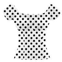여성 T 셔츠 패션 디자이너 한 줄 칼라 어깨에서 섹시한 탑 다재다능한 폴카 도트 티셔츠 폴로스 일치 레깅스와 드레스