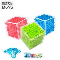 Moyu 3D Maze Magic Cube Transparent Six Sided Puzzle Speed Cube Für Jungen Mädchen Geschenke Mini Brain Spiel Pädagogisches Spielzeug