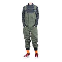 Гинзные джинсы мужские карманы грузовые щипцы нагрудник комбинезон свободных хип-хоп эластичные талии комбинезон комбинезон армии зеленый черный модный дизайнер стиль вырезания 2021