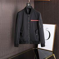 2021 Designerjacke Herren Langarmshirts Hemden Reißverschluss Slim Fit Man Casual Jacken Herbst Winter Luxus Kleidung Druck Brief Motorrad Mantel