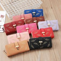 Wallets 2021 Lady Long Women Fashion Hollowed-out Leaf Flower Lady's Purses Fold PU Leather Female Coin Purse Card Holde