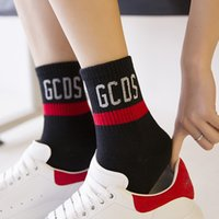 Осенью и зима новая буква GCDS полосатая дышащая мода хлопчатобумажные женские спортивные носки