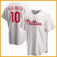 Philadelphia benutzerdefinierte Phillie 10 JT Realmuto Baseball Jersey Bryce Mike Schmidt Harper Darren darry darry taughon aaron nola rhys hoskins jean segura
