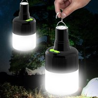 Portable Lanterns LED Camping Light Bulb With Hook USB Rechargeable Batteries Hanging Emergency Night Lamp Lights Outdoor Patio Porch
