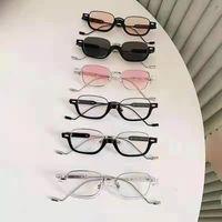 Óculos de Sol Hangju 86335 Óculos de Sol Quadro Pequeno Metal Metal Modelo 2021 Óculos de rua