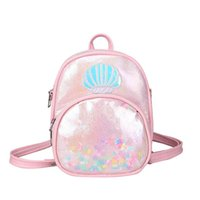 Girls Backpacks Kids Bags Children Accessories Transparent Shoulder School Sequin Messenger Bag Satchel Purse B7205