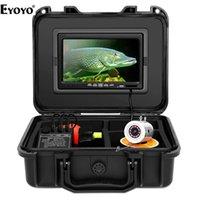 """FISH FINDER EYOYO WF01 7 """"zoll Videokamera für Angeln 1000tvl Unterwasser 50m Eis Meer 12 stücke Weiße LEDs Fishfinders"""