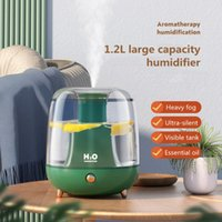 Humidifiers 1.2L Aromatheraphy Humidifier Rechargeable Battery Air Purifier Essential Oil Diffuser Home Desktop Silent Mist Sprayer LED Lamp
