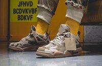 Calidad superior Aeali May X 4 4s Zapatos deportivos Ripstop Nylon Sneakers superiores cubiertos de tonos de marrón y verde como lo bueno como Detalles de camuflaje