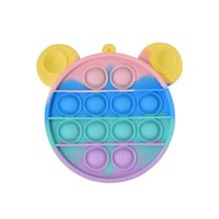 DHL FREE Silicone Coin Purse Rodent Control Pioneer Toy Desktop Educational Finger Decompression Bubble Music Storage Mini Bag