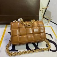 Bolso de piel de vaca tejida Mujeres de diseño de lujo bolsos Classic Casette Wallet