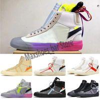 2021 Мода Blazer Mid 77 Урожай беговые туфли для высшего качества Мужчины Женщины Черный Белый Высокий Помощь Обучение Дизайнерские Кроссовки Размер 36-44 м21