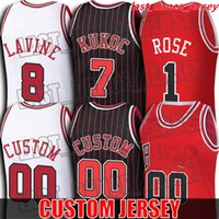 Custom Derrick Tony Rose Kukoc Jersey Patrick Zach Williams Lavine Jerseys ChicagoToroJersey White Steve Young Kerr Daniel theis