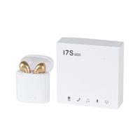 Auricolari Bluetooth I7S TWS Auricolare auricolare 5 colori BT5.0 Cuffie wireless Cuffie in-Ear Portable Auricolari con pacchetto al dettaglio