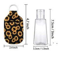 Sanitizer Holder Neoprene Hand Sanitizers Bottle Party Favor Lipstick Lip Cover Handbag Keychain Printing Chapstick 30ml EWE6419