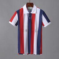 2021 Designer Polo shirts Männer Luxus Polos Casual Herren T-Shirt Schlange Biene Brief Druck Stickerei Mode High Street Mann T-Stück # 5088