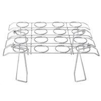 Cajas de almacenamiento Bins Licg-Acero Inoxidable Helado Cono Pantalla Rack Stand Soporte DIY Titulares Pastel de hornear Cupcake Bandeja de enfriamiento H