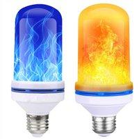 화염 효과 LED 전구 깜박 거리는 화재 파티 가든 마당에 대 한 벽 조명 램프 크리스마스 장식 조명 6W E27 Flamme ampoule