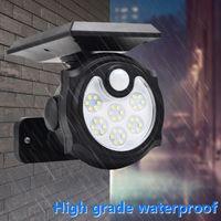 4PACK Powerful Solar Light Outdoor Motion Sensor Waterproof Garden LED Solar Light Spotlight Suitable For Garden Path Wall Light