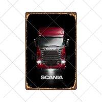 Beer Tin Signes Scania Metal Signs Vintage Truck Truck Poster Retro Plaque Garage Bar Pub Plaque Décorative Plaque Décor en métal Signes en métal