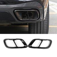 Cadre de garniture de tuyau d'échappement arrière de la voiture pour BMW X5 G05 X7 G07 2019-2021 Modèle Accessoires en acier inoxydable