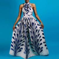 Vestidos Mulheres Africanas Tradicionais Dashiki Long Ankara Bandage Maxi Vestido Múltiplo Desgaste Imprimir Verão C