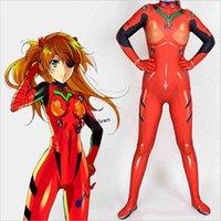 Asuka Langley Soryu Jumpsuits Anime Ayanami Rei Cosplay Kostuum Dames Eva Top Warrior Halloween Zentai Pak Bodysuit