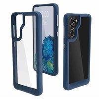 Klare Acryl-Gummi-Telefone für Samsung S21 Ultra S20 Plus Galaxy A12 A52 A72 A32 A42 5G Anti-Schlag-Einfache Schale
