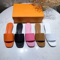 2021 Высочайшее качество Женщина Плоские Тапочки Лидо Сандалии Квадратный Носок Высокие каблуки Открытый Носок Оплетенный Дизайнер Летние Все-Матч Стилист Обувь Каблук 6см