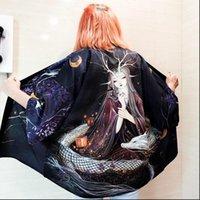 Korean Clothing Streetwear Soft Womens Blouses Girl Aesthetic Ullzang Clothes Kimono Cardigan Tops For Women Blouse Haori Female AA3004