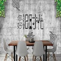 Wallpapers Milofei Manufacturers Custom Cement Wall Hello Old Time Background Wallpaper Mural