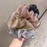 2021 Корея Большой Размер Яркие сетки Склеистые Волосы Жеревки Для Женщин Эластичные Палочки Для Дервики Девушки Держатель Держатель для волос Аксессуары для волос